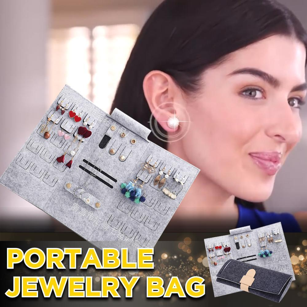( Hot Sale Today! Up to 50% discount!) Rolling Portable Jewelry Storage Bag