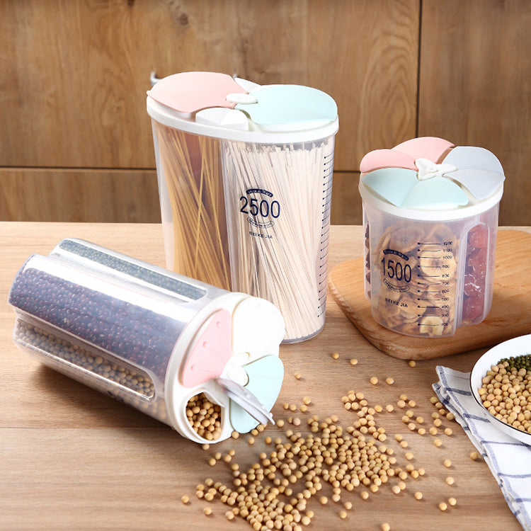 ( 50% OFF)Rotating Kitchen Storage Tank Dry Food Storage Containers Cereal Storage