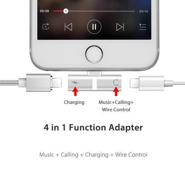 50% OFF - 4 in 1 Lightning Adapter for iPhone (Buy one get one free)