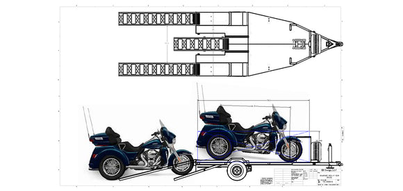Touring Line Trike Trailer PRE-ORDER DEPOSIT - First Run