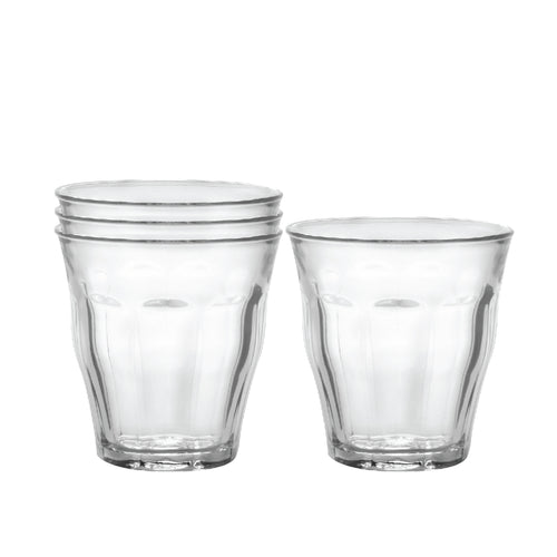 Picardie Clear Tumbler, Set of Four