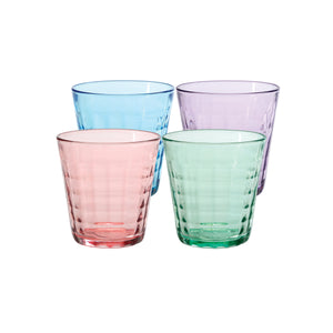 Duralex Prisme Tumbler Set of Four - Assorted Colors Prisme Tumbler Set of Four - Assorted Colors