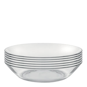 Duralex Lys Dinnerware Calotte Plate Package: Set of 6