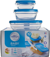 Duralex USA Baby Set - 10 Bowls with Lids Baby Set - 10 Bowls with Lids
