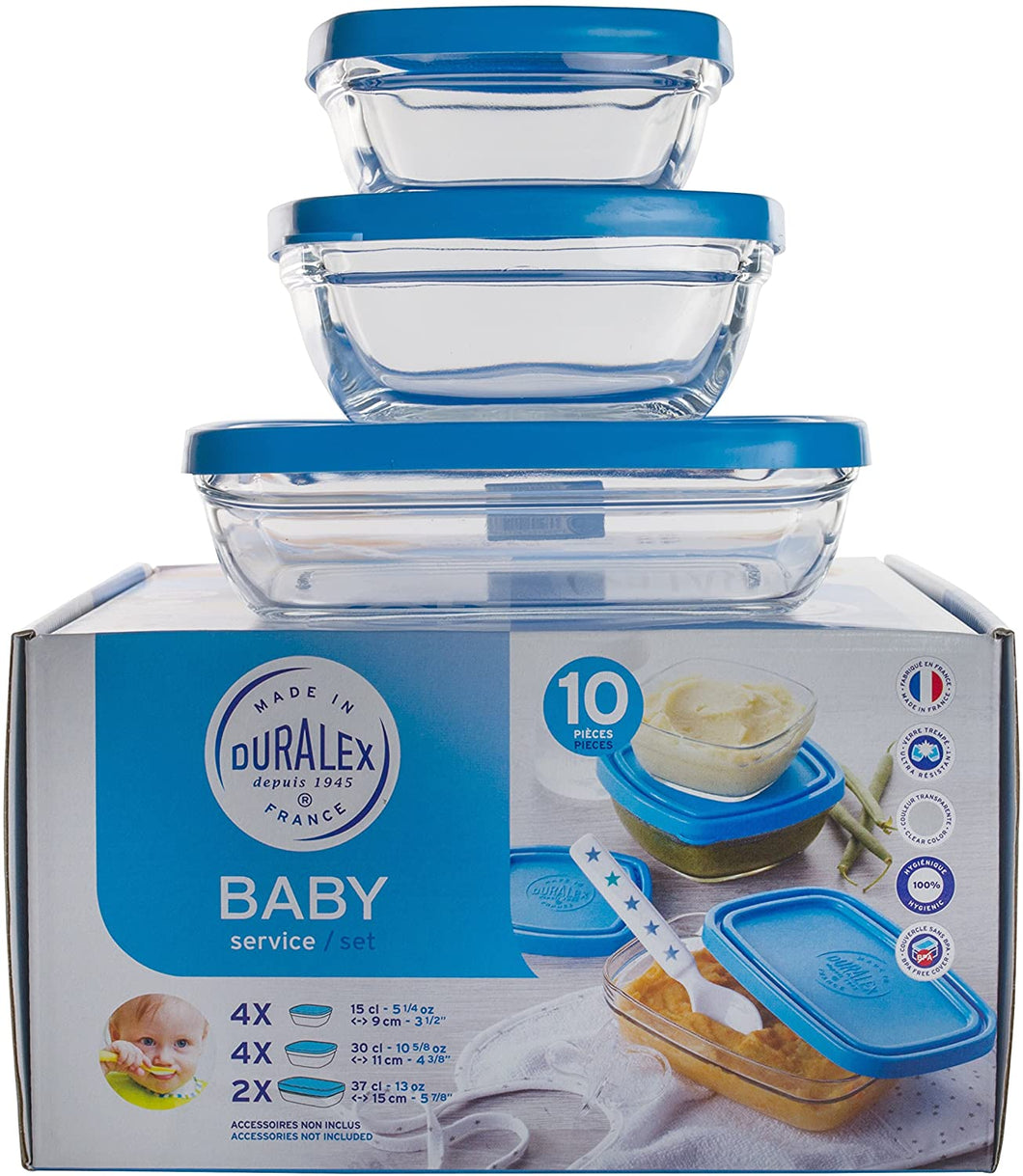 Baby Set - 10 Bowls with Lids