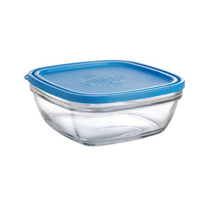 Duralex Lys Square Bowl with Lid Size: 6.8 inch