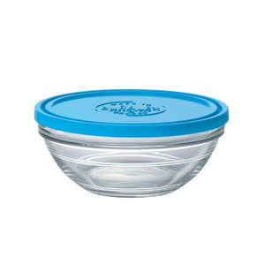 Duralex Lys Round Bowl with Lid Size: 1 quart