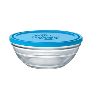 Duralex Lys Round Bowl with Lid Size: 1.5 quart