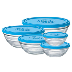Duralex Lys Round Bowl with Lid Size: 5-piece Set