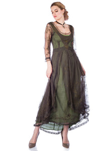 Nataya 40163 Downton Abbey Emerald Tea Party Gown