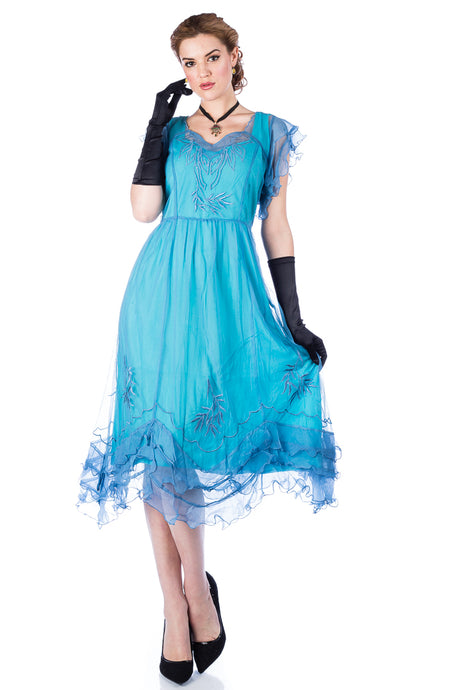 Nataya Olivia AL-284 Turquoise Dress