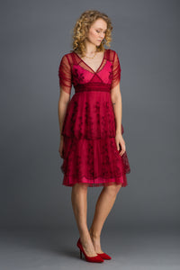 Nataya Zoe AL-237 Raspberry Dress