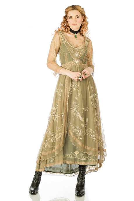 Nataya 40163 Downton Abbey Sage Tea Party Gown