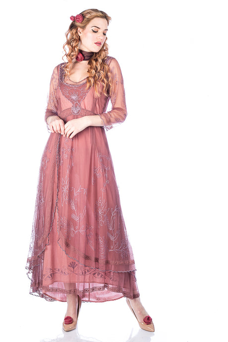 Nataya 40163 Downton Abbey Mauve Tea Party Gown