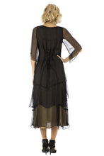 Nataya Tea Rose Chiffon 10709 Black/Gold Dress