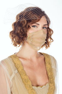 Breathable Dressy Face Mask in Gold by Nataya