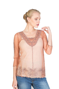 Nataya CT-407 Vintage Lace Rose/Silver Top