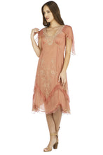 Nataya Jacqueline AL-241 Rose/Gold Dress