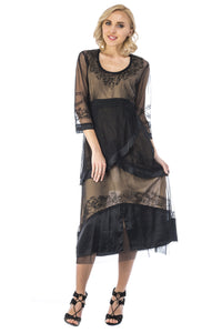 Nataya 40221 Black/Gold Dress