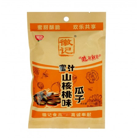 徽记蜜汁瓜子—山核桃味 112g/ HUJI Sunflower Seeds — Walnut