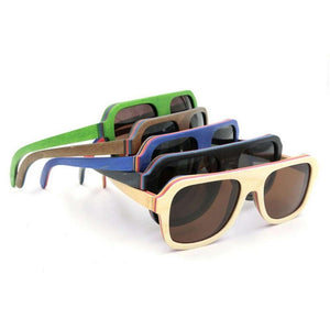 Polarized Pilot Solid Wooden Sunglasses