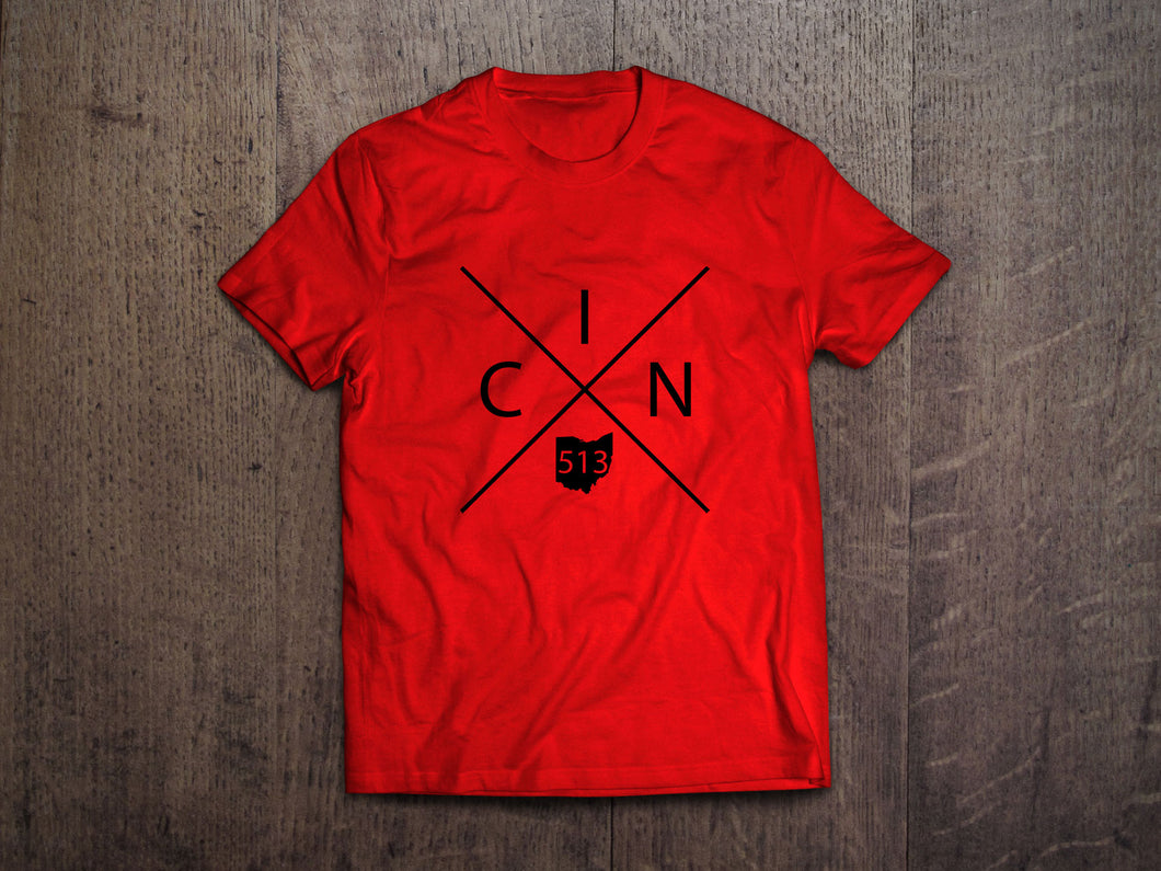 Cincinnati Ohio Cross Design T-Shirt