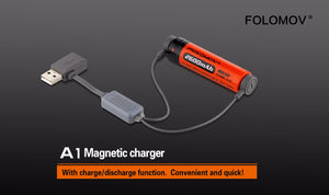 Folomov A1 Magnetic Charger - Hi Power Flashlights, LED Torches