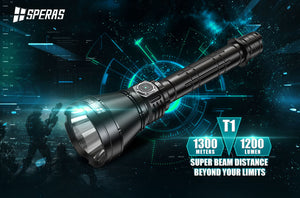 Speras T1 - 4hr runtime - Hi Power Flashlights