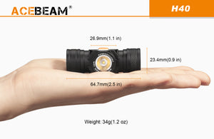 Acebeam H40 CRI - Hi Power Flashlights