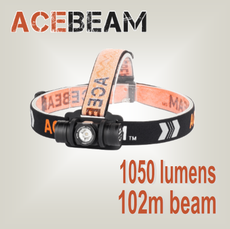 Acebeam H40 HD - Hi Power Flashlights, LED Torches