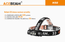 Acebeam H50  125 degree beam angle