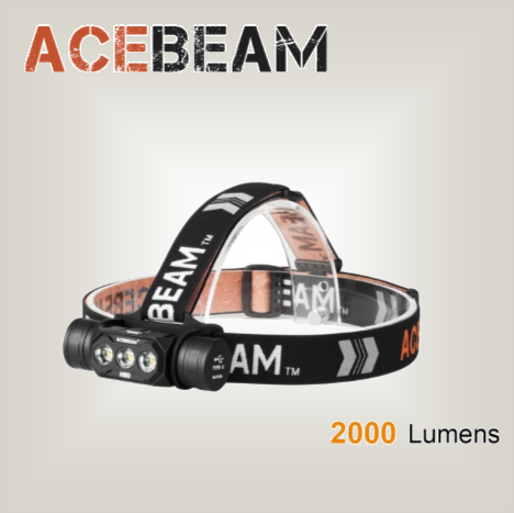 Acebeam H50 - 2000 lumens, 125 degree beam angle - Hi Power Flashlights, LED Torches