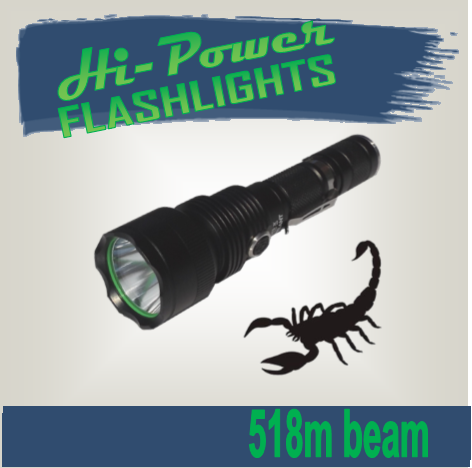 Hi-Power Scorpion - Hi Power Flashlights, LED Torches