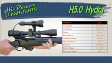 Hi-Power Hydra H5.0 Superior 5-in-1 Hunting flashlight w/UV - Hi Power Flashlights, LED Torches