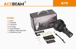 Acebeam K75 - Hi Power Flashlights