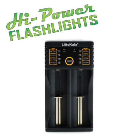 Lii-202 USB charger - Hi Power Flashlights, LED Torches