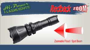 Hi-Power Redback ZOOM - Focusable Fox Hunting Light - Hi Power Flashlights, LED Torches