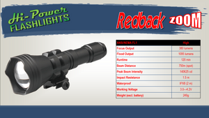 Hi-Power Redback ZOOM - Hi Power Flashlights, LED Torches
