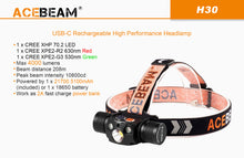 Acebeam H30 - Hi Power Flashlights
