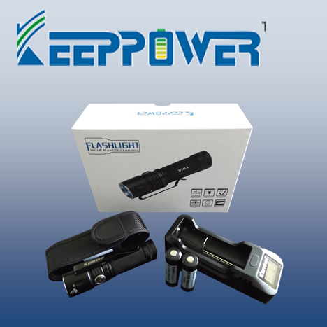KeepPower WD1A Pack - Hi Power Flashlights, LED Torches