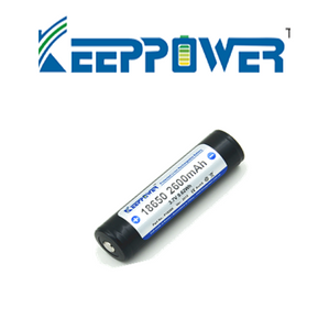 KeepPower 2600mAh 18650 Li-Ion Battery - Hi Power Flashlights, LED Torches
