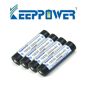 4 x KeepPower 2600mAh - Hi Power Flashlights, LED Torches