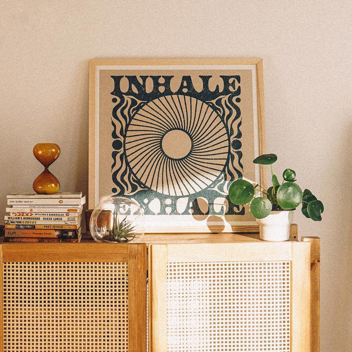 Inhale Exhale Square Print