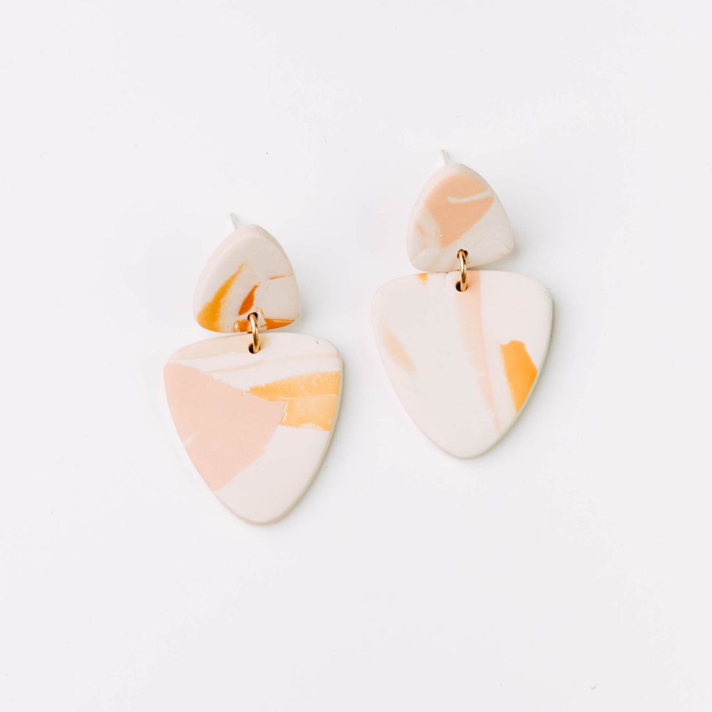 Kin Drop Earrings in Lagoon Watercolour
