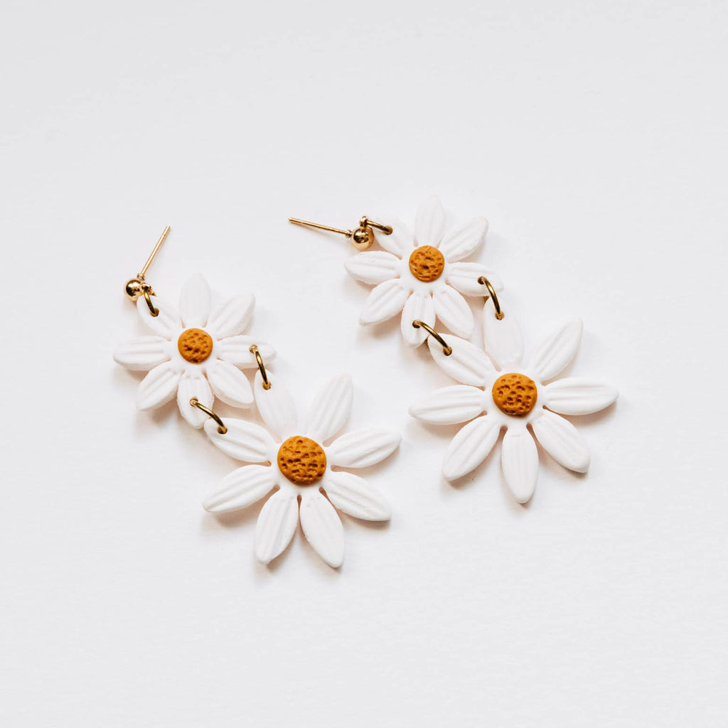 Duo Statement Daisy, Embroidery Floral Inspired