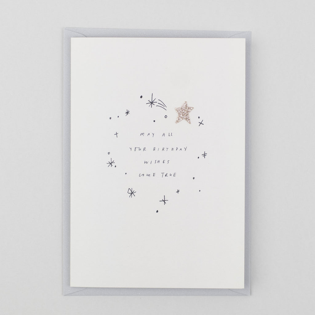 Birthday Wishes Greeting Card with Glitter