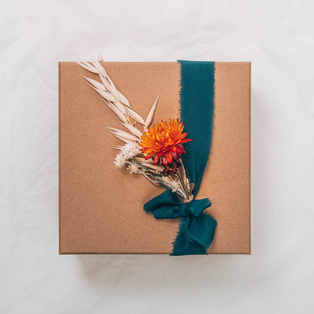 Gift Box Cairn Earrings and Grounding Bath Elixir