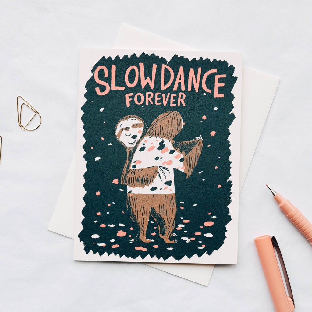 Sloth Slow Dance Forever Card