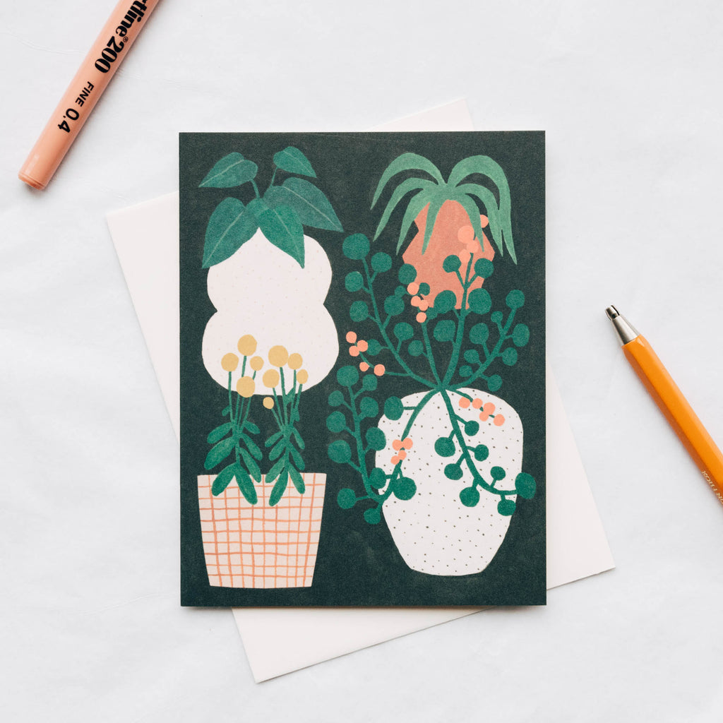 Plant Illustration Blank Card