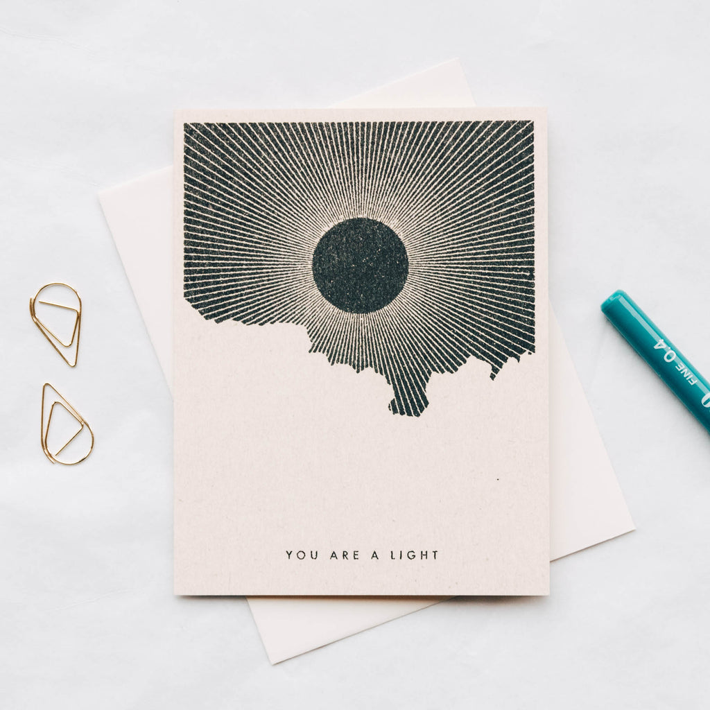You Are A Light - Sun Greeting Card